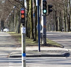 Bilar får grönt före cyklar