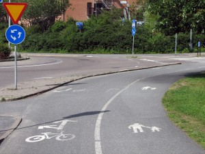 Linje blir kantsten på Danska vägen