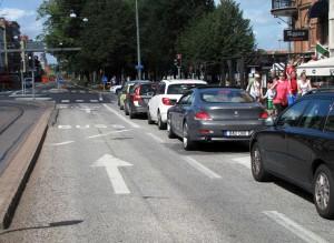 Bussfil på Södra vägen