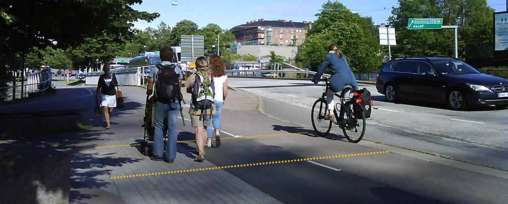 Materialseparation vid Örgrytevägen i Göteborg