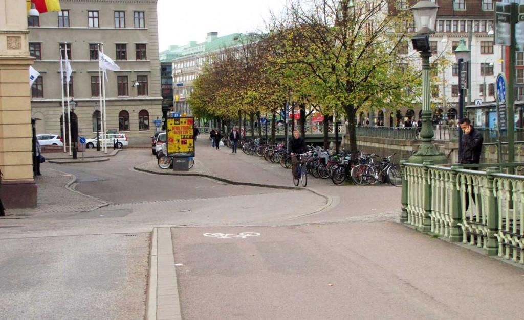 Cykelbanan från Brunnsparken till Slussgatan