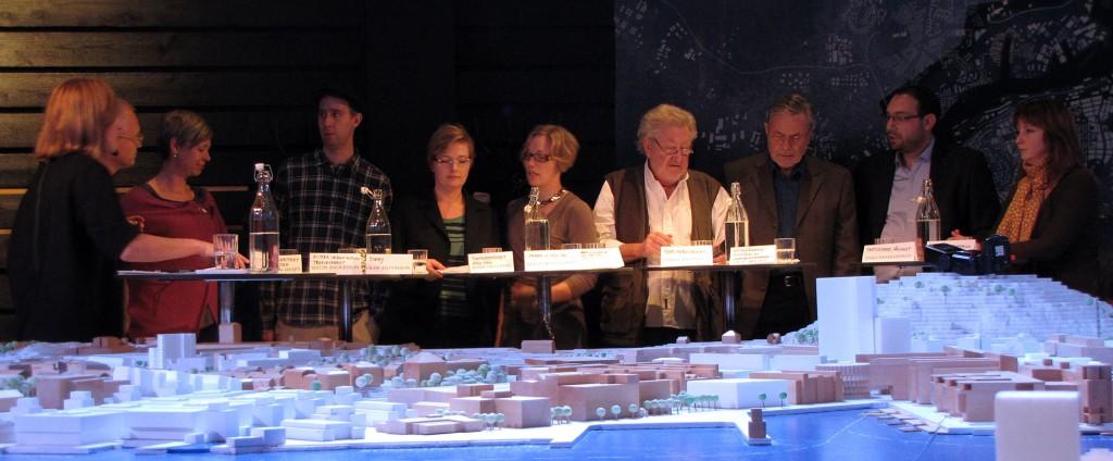 """Panelen vid debatten """"Kampen om stadsrummet"""""""