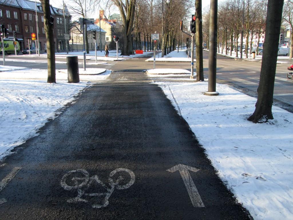Allens cykelbana vid östra avstängningen