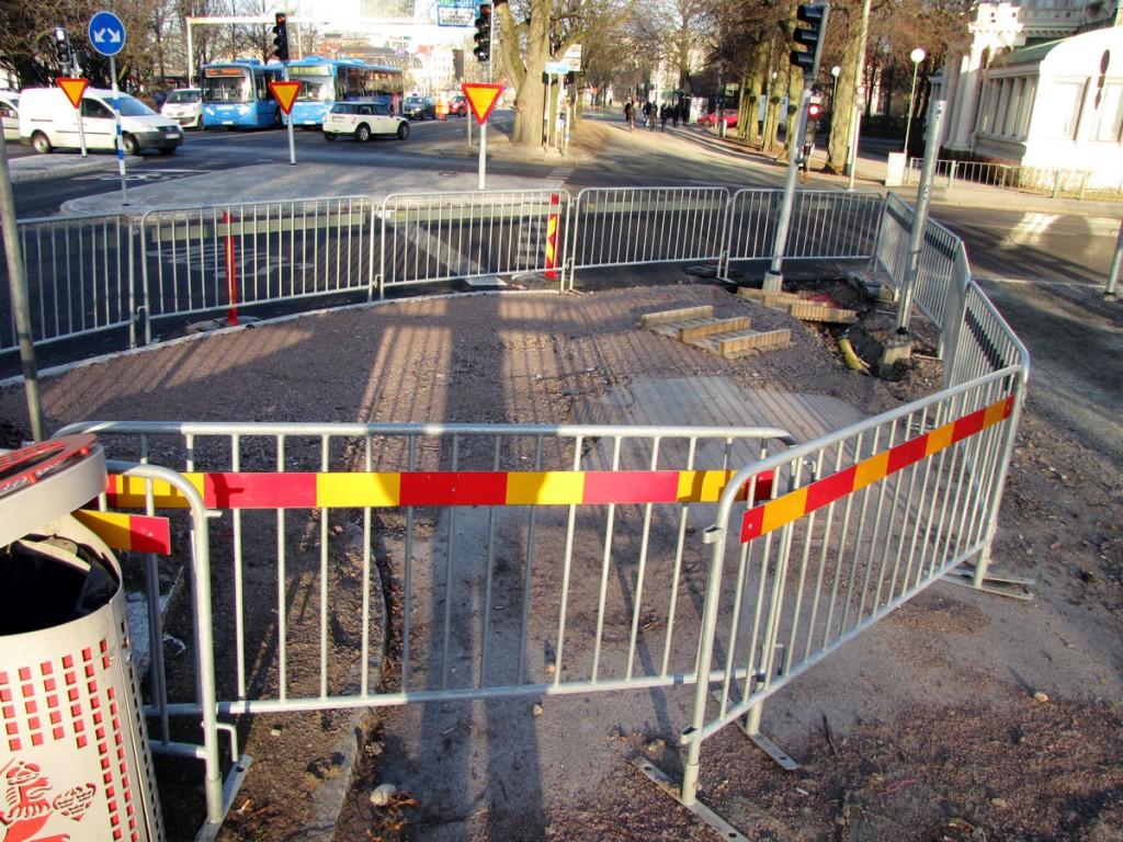 Det hindrande staketet två veckor senare