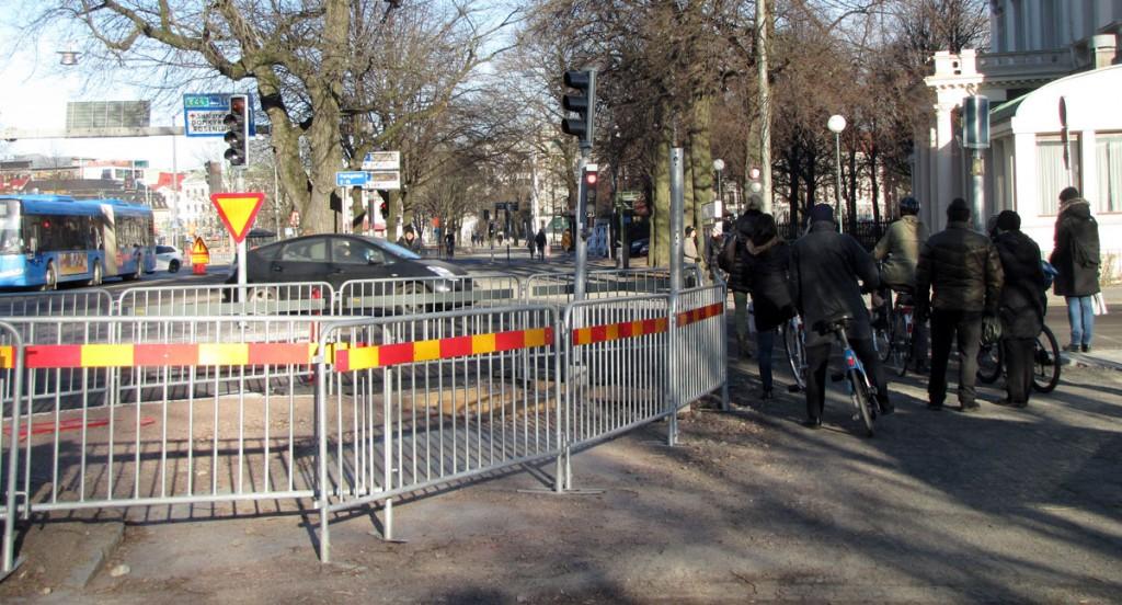 Cykelavspärrningen den 12 mars