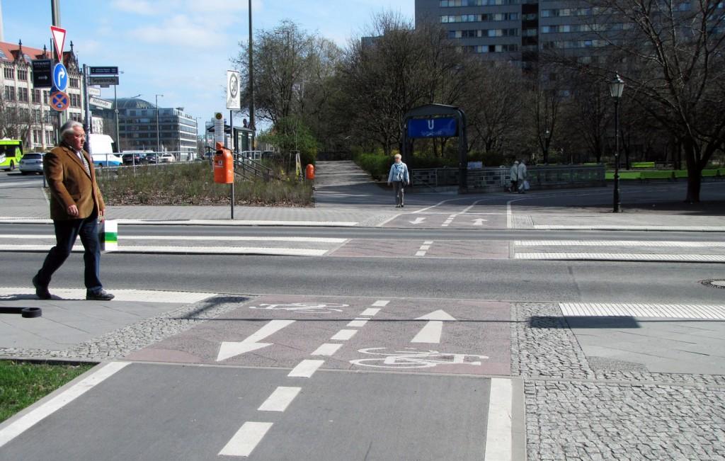 C-markering vid G-korsning i Berlin