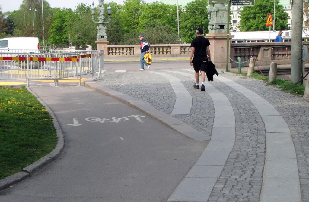 Cykelstaket vid Kungsportsbron