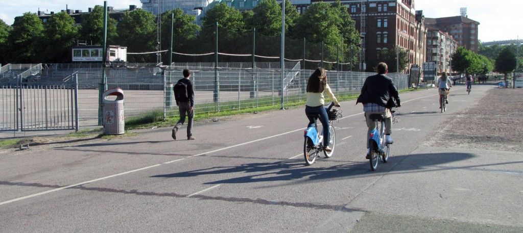 Bike and pedestrian speed measuring at Heden