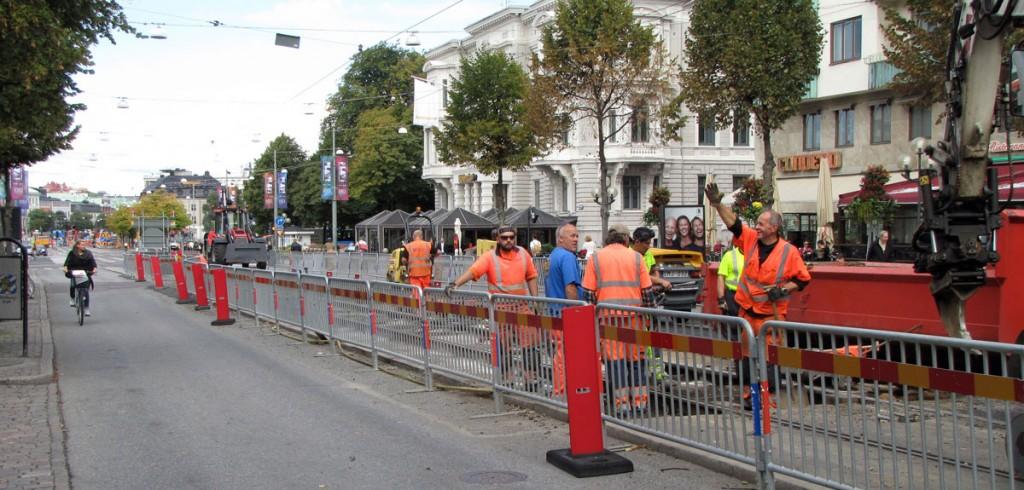Avenyns avspärrade kollektivfil