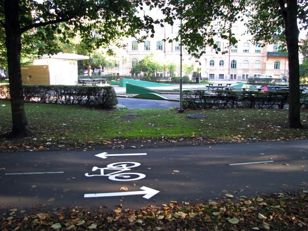 Cykelsymbol även i tveksam Alle-korsning