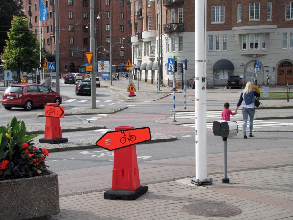 Korsvägen, korsningen med Skånegatan