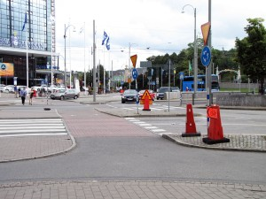 Korsvägen, korsningen över Skånegatan åt öster