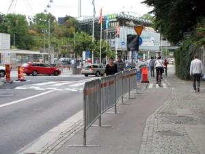 Södra vägens utfart på Korsvägen