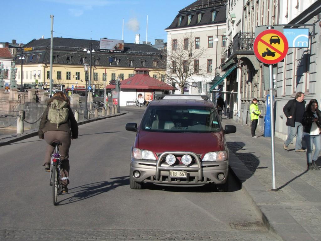 Motortrafik förbjuden i en riktning