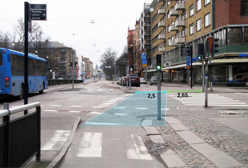 Södra Vägen vid Berzeliigatan