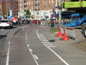 Cykelbana/överfart vid Korsvägen