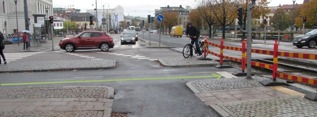 Västra cykelpassagen är enkelriktad