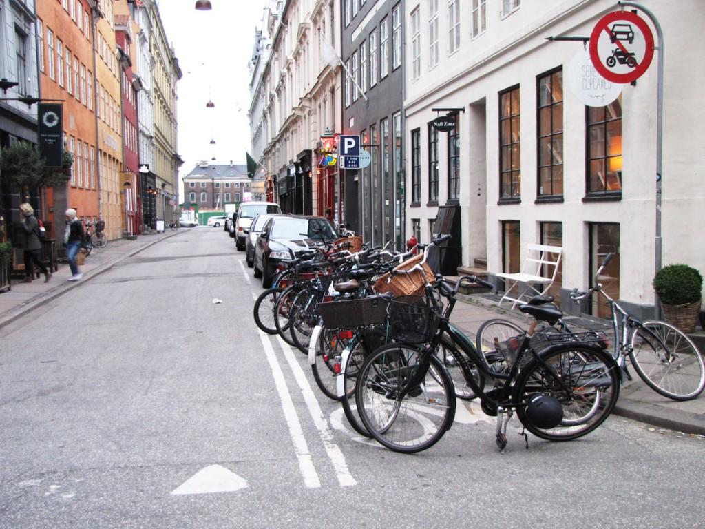 Skylt Motortrafik förbjuden i Köpenhamn
