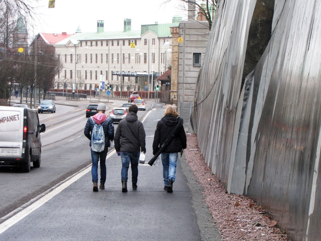 Nya cykelbanan leder mot Vasa f.d. sjukhus