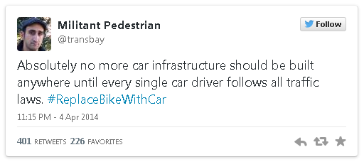 ReplaceBikeWithCar tweet