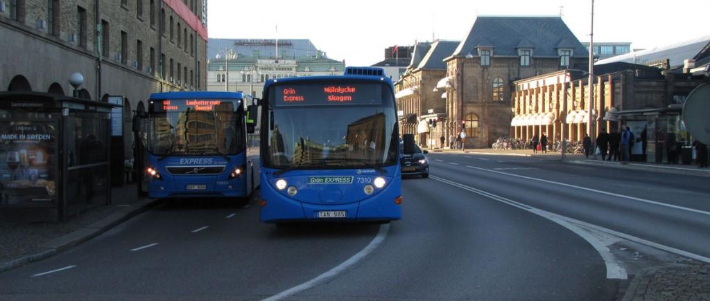 Bussars filval vid Göteborgs central