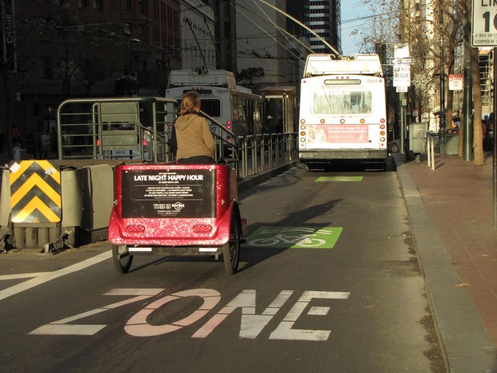 San Francisco: Vägmarkering inbjuder cykel