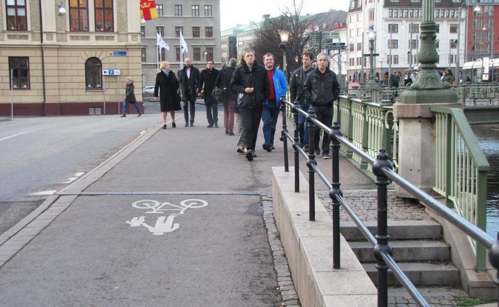 Centralen runt, Slussgatans gc-blandning