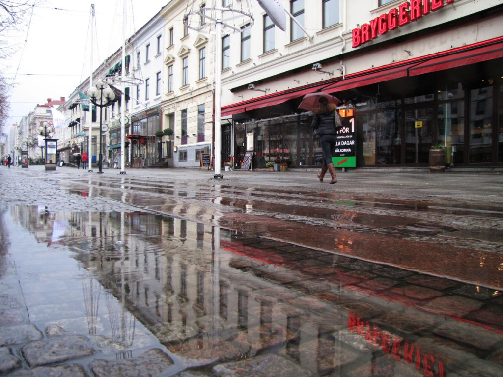 Avenyn vid regn