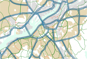 Pendlingscykelstråk enligt Göteborgs cykelprogram
