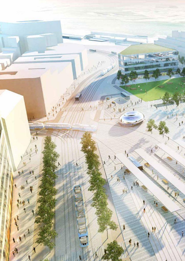 Gbg:s visionsbild över Kanaltorget i Centralenområdet 2.0