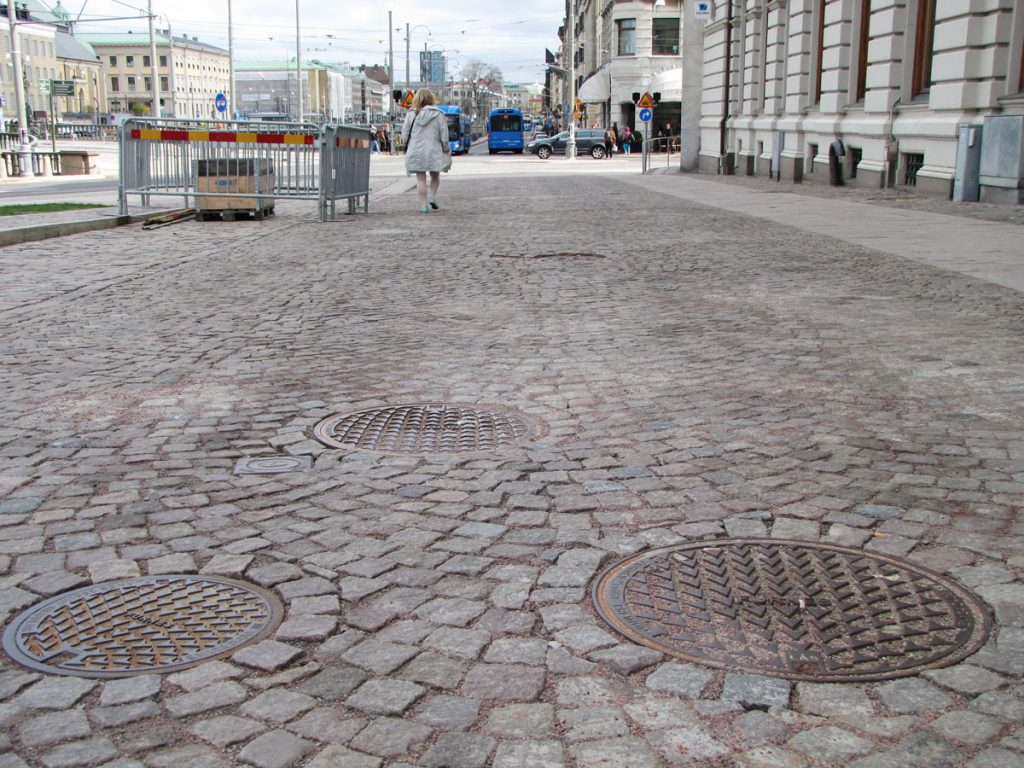Ojämna Lilla torgets gata