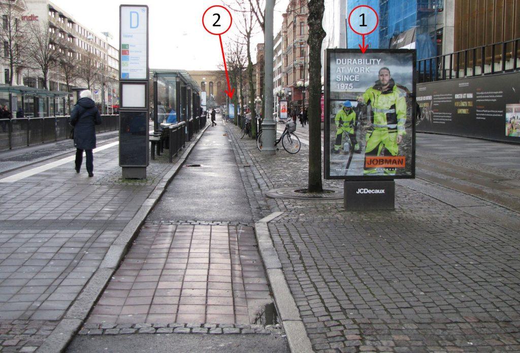 Valands hållplats och cykelbana
