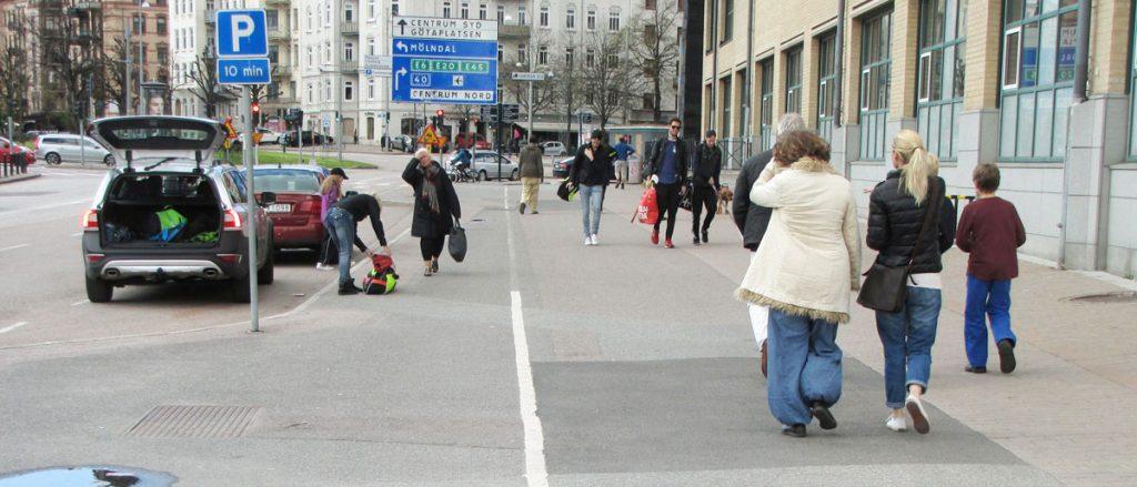 Burgården-Vallhallavägens cykelbana