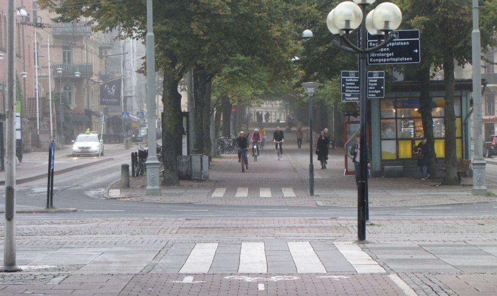 Avenyn-Vasagatans cykelperspektiv i stort