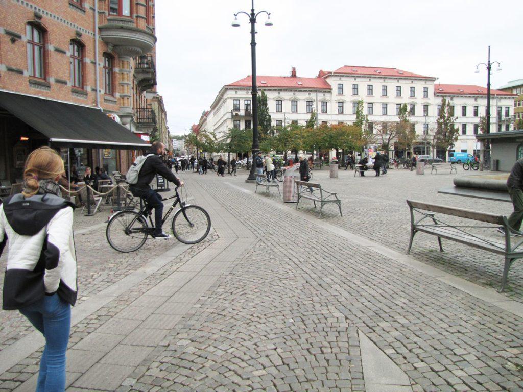 Cykling på Järntorget
