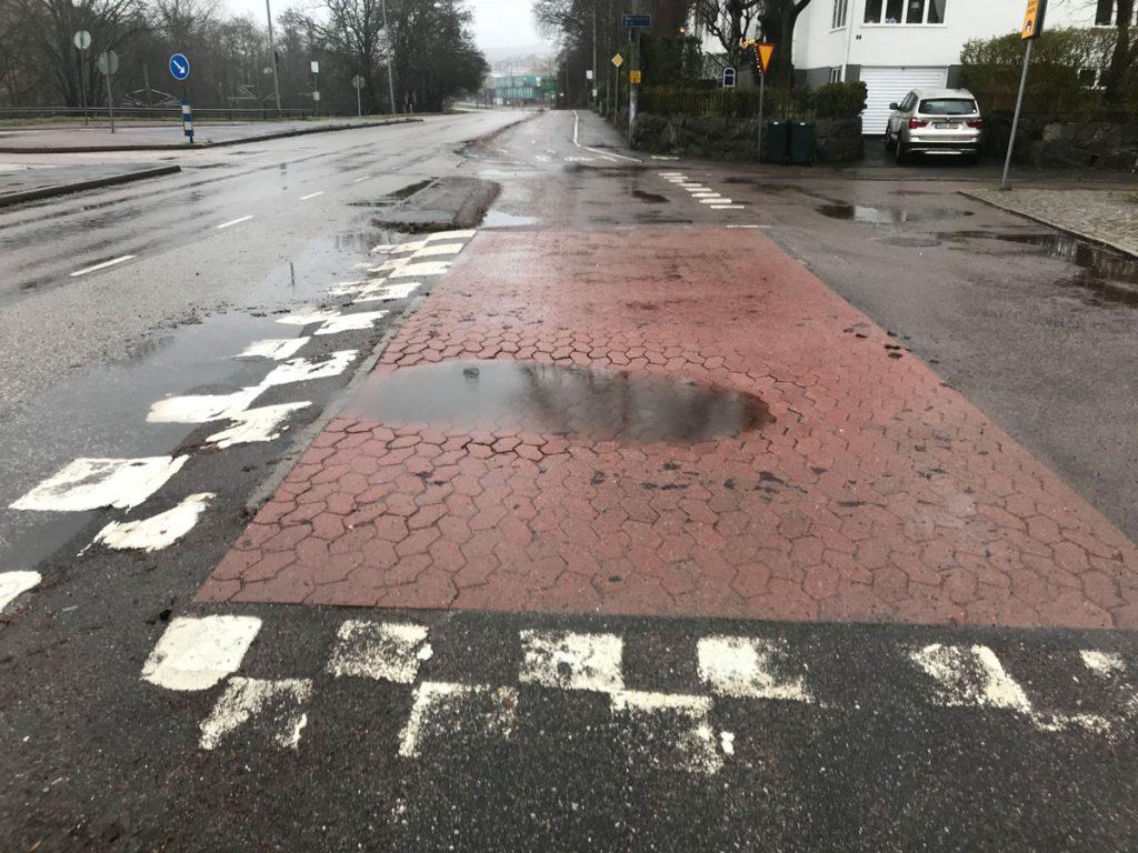 SF-sten vid Delsjövägen x Skårsgatan