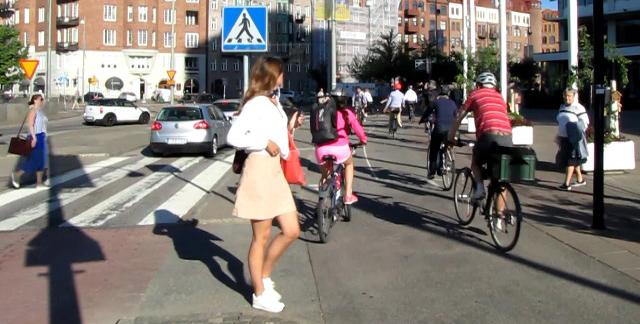 Korsvägens gc-trafik