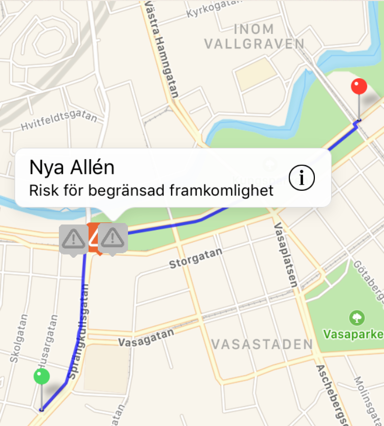 Mobila cykelreseplanerarens Hagaväg