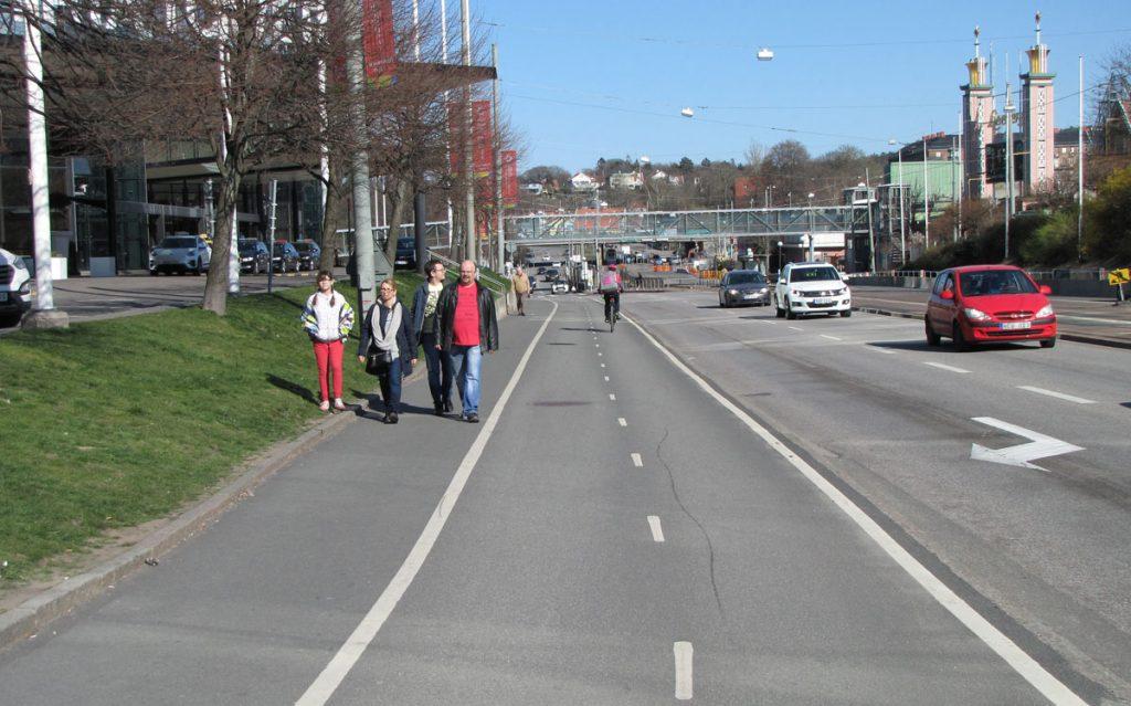 Slät cykelbana förbi Gothia Towers
