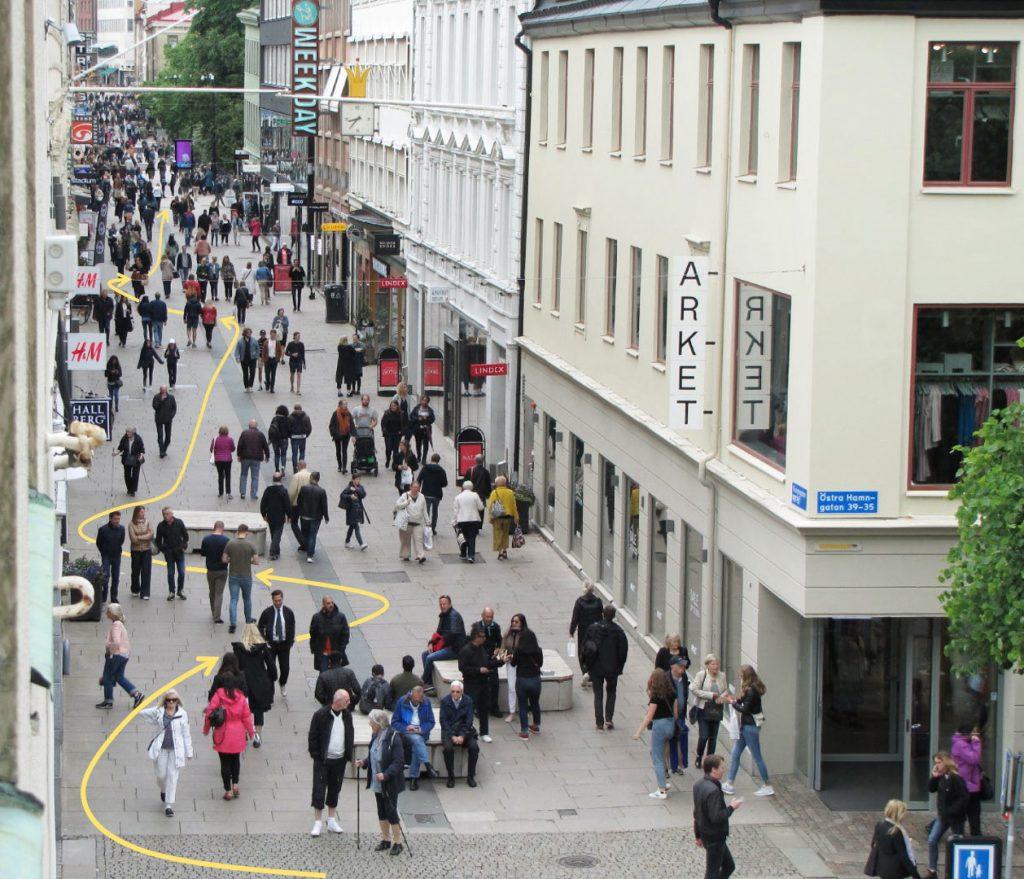 Mingel för cyklister på Kungsgatan