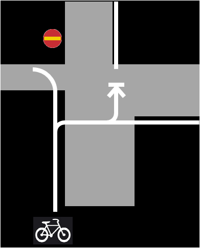 Orienteringstavla för cyklister på Läraregatan