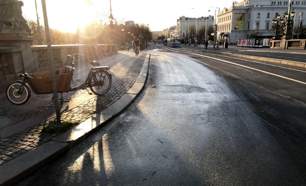 Isgata på Kungsportsbron