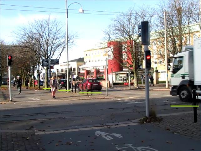 Järntorgets rödljustid - Fast grönt för bilar