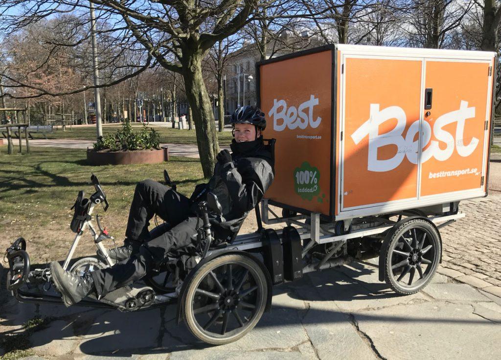 Varutransport med lastcykel