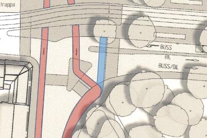 Station Haga: Detaljplanens cykelbaneknix