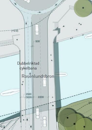 Station Haga: Förslag Gläntans rondellanslutning