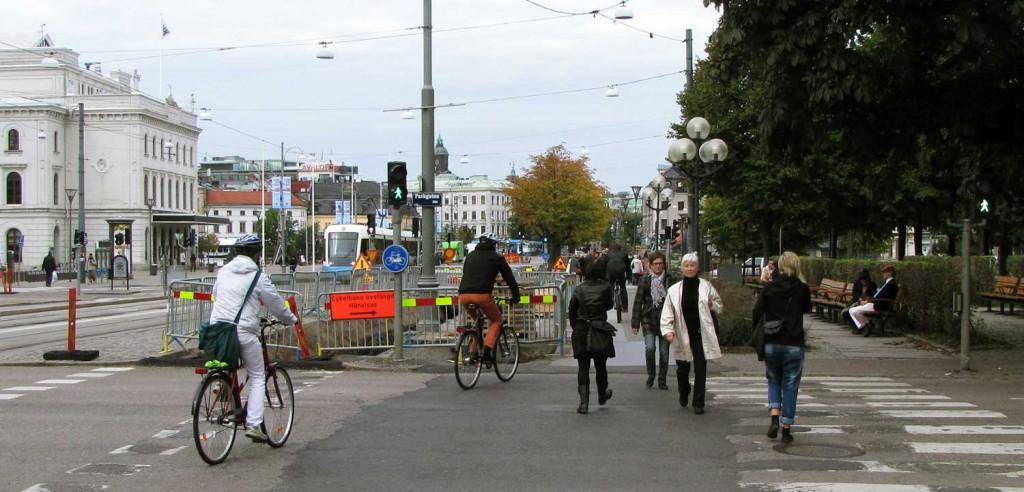 Vägarbete vid Avenyn 2010
