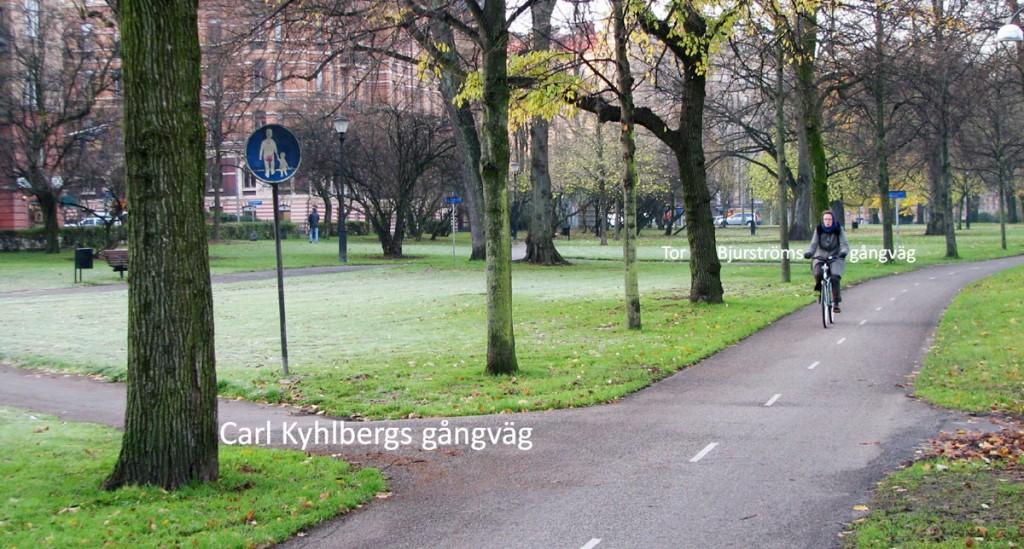 Gångvägar ansluter glatt till cykelbanan!