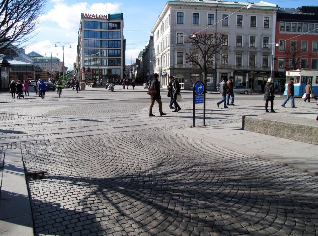 Kungsportsplatsen från Östra Larmgatan