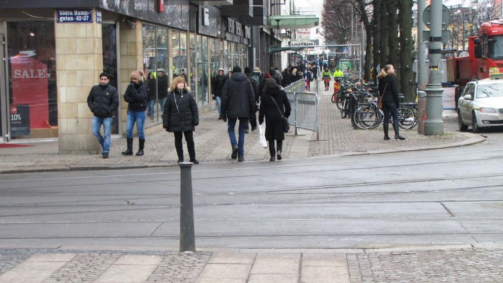 Omedning vid bygge av cyklefartsgata 2015